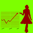 Vector clipart: business chart and women