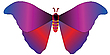 Vector clipart: blue and red butterfly