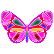 Pink butterfly | Stock Vector Graphics