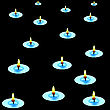 Vector clipart: candles in the dark
