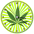 Vector clipart: cannabis clock
