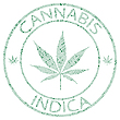 Vector clipart: cannabis indica stamp