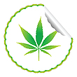 Vector clipart: cannabis leaf label