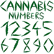 Vector clipart: cannabis numbers