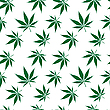 Vector clipart: cannabis seamless pattern extended