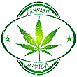 Vector clipart: cannabis stamp