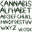 Vector clipart: cannabis alphabet