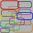 Vector clipart: chain in colors