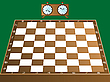 Vector clipart: chess board and clock