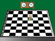 Vector clipart: chess, ladder and clock