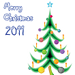Vector clipart: christmas tree against white