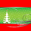 Vector clipart: christmas tree card 3