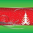 Vector clipart: christmas tree card 4