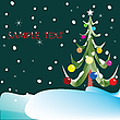 Vector clipart: christmas tree composition