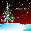 Vector clipart: christmas tree with space for text