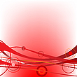 Vector clipart: circle waves red