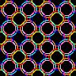 Vector clipart: circles seamless mesh