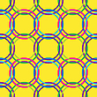 Vector clipart: circles seamless pattern in retro colors