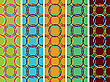 Vector clipart: circles vertical seamless textures