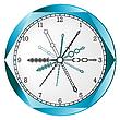 Vector clipart: blue border clock