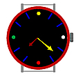 Vector clipart: clock in colors