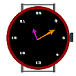 Vector clipart: clock with 24 ours