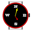 Vector clipart: clock with orientation