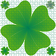 Vector clipart: clover puzzle