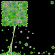 Vector clipart: clover tree