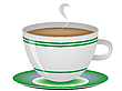 Vector clipart: coffee cup against white