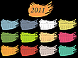 Vector clipart: color spot calendar for 2011