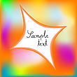 Vector clipart: colored abstract template