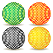Vector clipart: colored balls against white