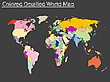 Vector clipart: colored detailed world map