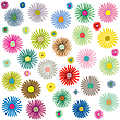 Vector clipart: colored flowers pattern