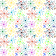 Vector clipart: colored flowers abstract pattern extended