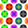 Vector clipart: colored flowers seamless pattern
