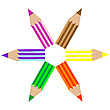 Colored pencils   Stock Vector Graphics