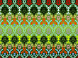 Vector clipart: colored seamless flowers pattern