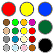 Vector clipart: colored web buttons