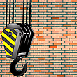 Vector clipart: crane hook over wall background