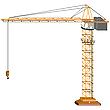 Векторный клипарт: строительный кран