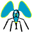 Vector clipart: crazy fly