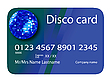 credit card disco blue