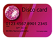 credit card disco purple