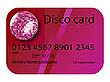 розовая кредитная карточка диско