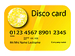 Vector clipart: credit card disco yellow