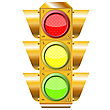 Cross road traffic lights | Stock Vector Graphics