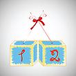 Cubes alphabet 12 | Stock Vector Graphics