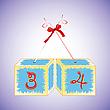 Vector clipart: cubes alphabet 34